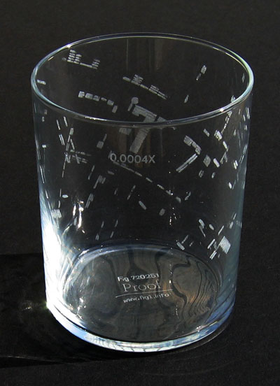 Fig. 1: Dr. Snow's map of cholera deaths on a water glass